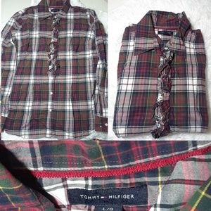 Tommy Hilfiger Plaid Print Shirt-Size L